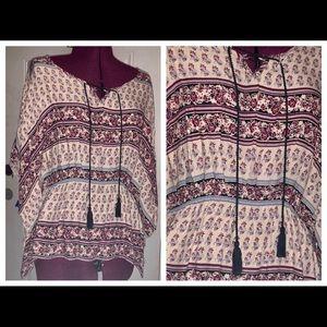 NEW Maurices Boho Kimono Sleeve Top
